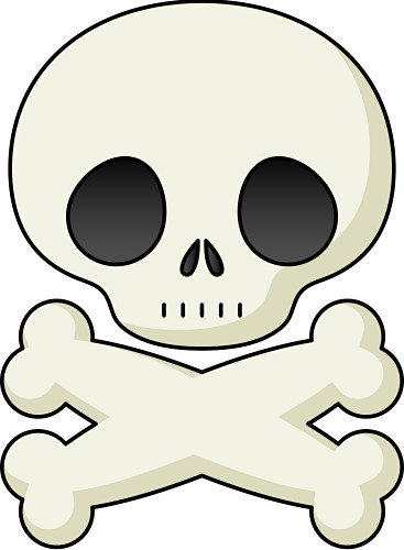 Danger clipart crossbone And and Crossbones Skull Clipart