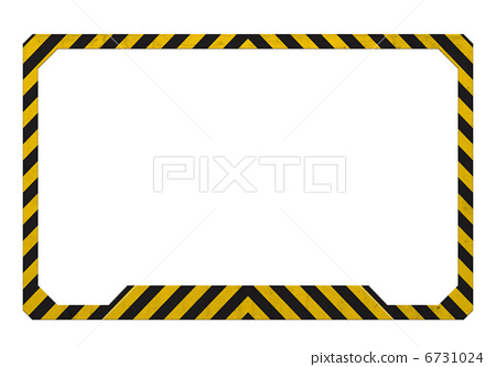Danger clipart frame [6731024] frame Stock PIXTA Illustration