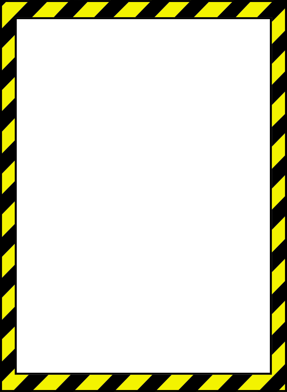 Danger clipart frame Border 2 MEDIUM Caution Clipart