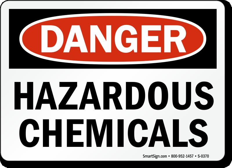 Danger clipart hazardous chemical Safety : OSHA Hazard Chemicals