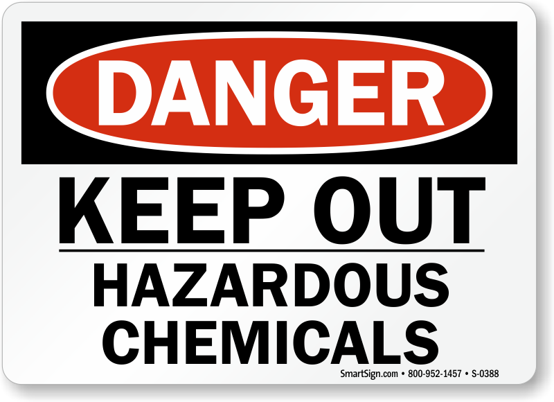 Danger clipart hazardous chemical Chemical Zoom Chemical Signs ·