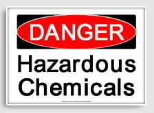 Danger clipart crossbone Hazardous freesignage sign chemicals printable