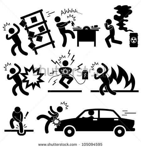 Danger clipart pictogram Symbol Accident Electrocuted Accident Explosion