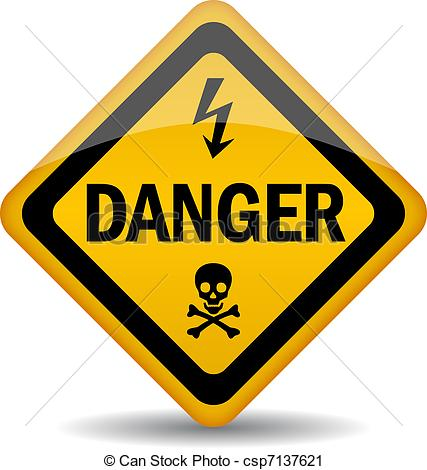 Danger clipart warning sign Vector Danger of Vector csp7137621