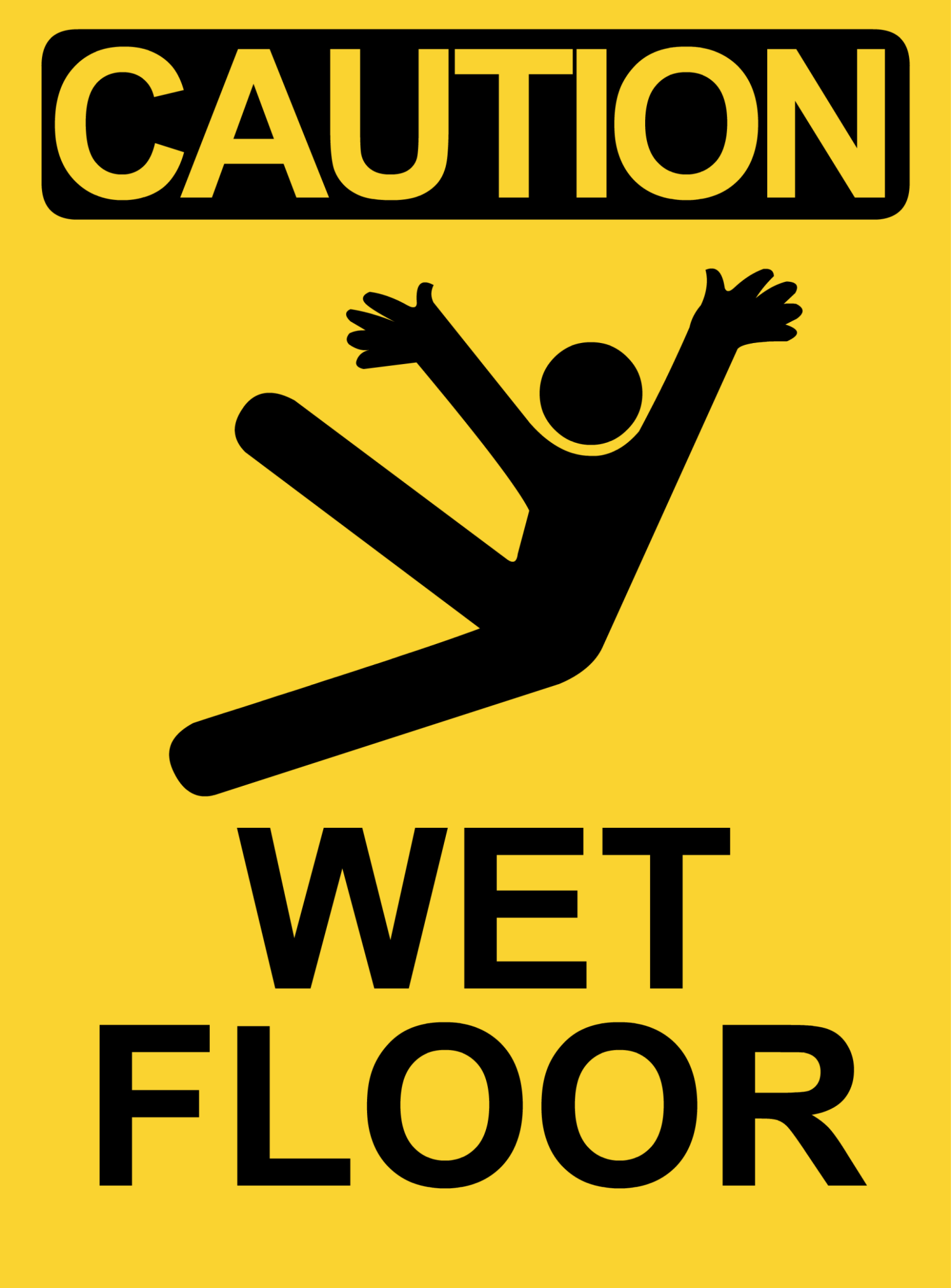 Danger clipart wet floor When Caution wet collection Sign