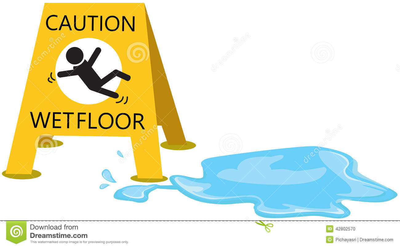 Danger clipart wet floor Clipart When Slippery Wet when