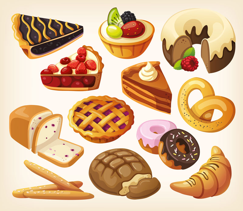 Bread clipart french pastry Pastries  Free cakes Clip