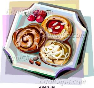 Denmark clipart breakfast pastry Danish pastries Vector pastries Danish