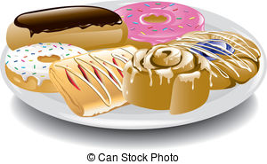 Pastry clipart bitten Assorted Illustration  and Danish
