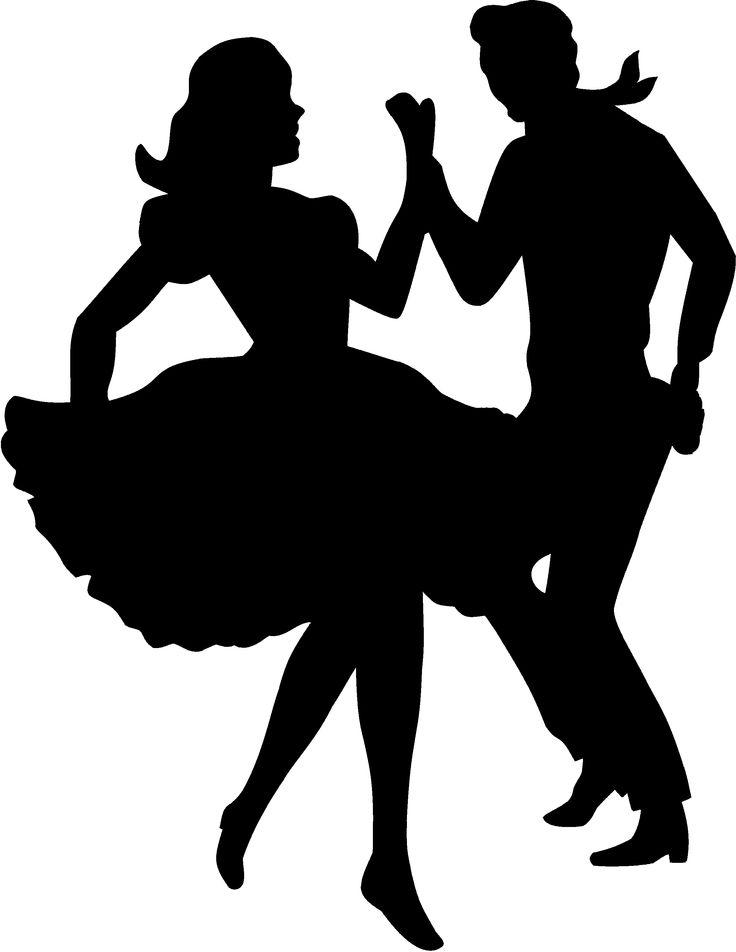 Danse clipart 70's Silhouettes Pinterest Discover Cricut more