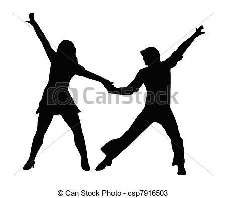Danse clipart 70's  dans couple 70s Vecteurs
