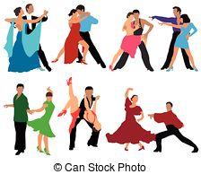 Danse clipart dance competition Csp7296499 cha Dance Vectors Dancers