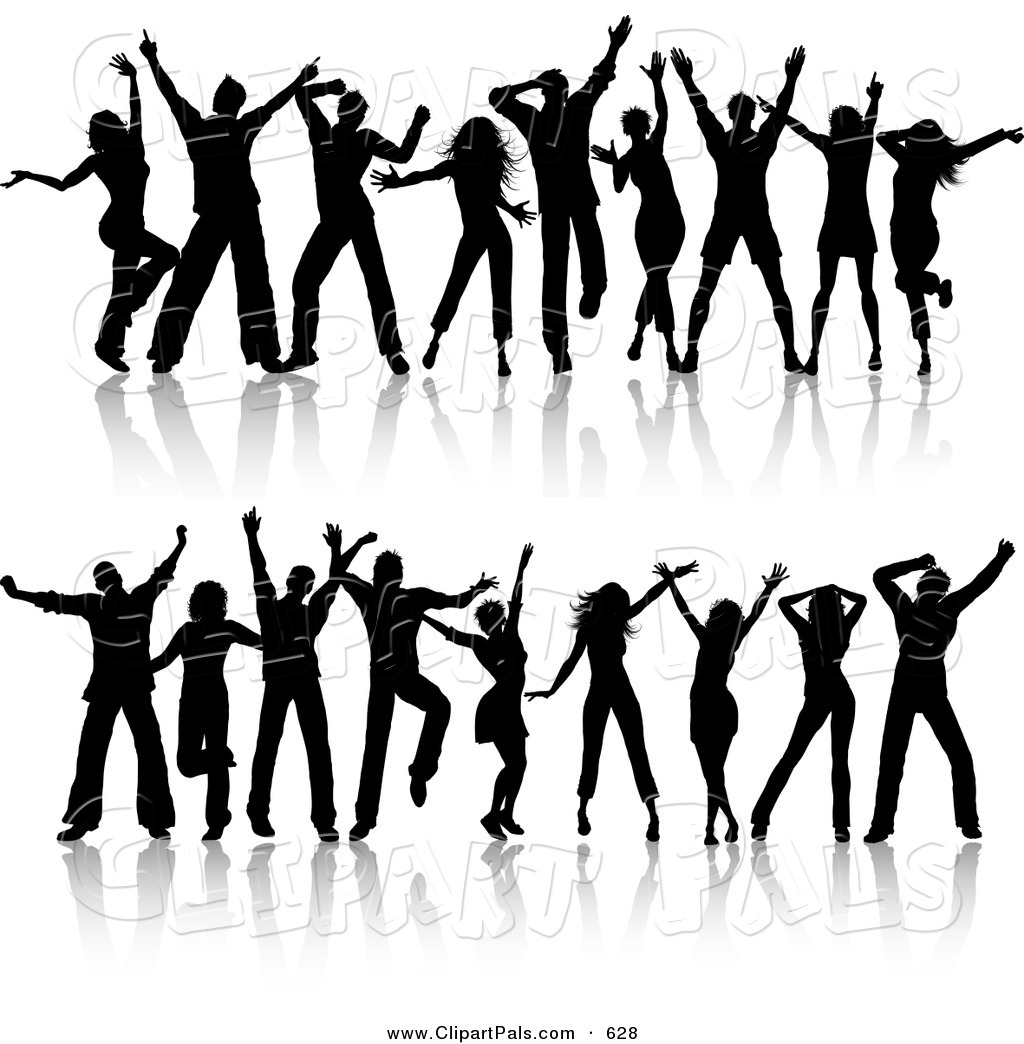 Club clipart group dancing Of Tiny Group people collection