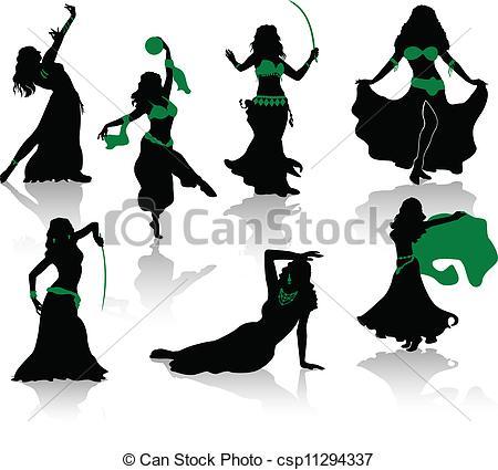 Danse clipart logo Silhouettes  Belly Vectors csp11294337