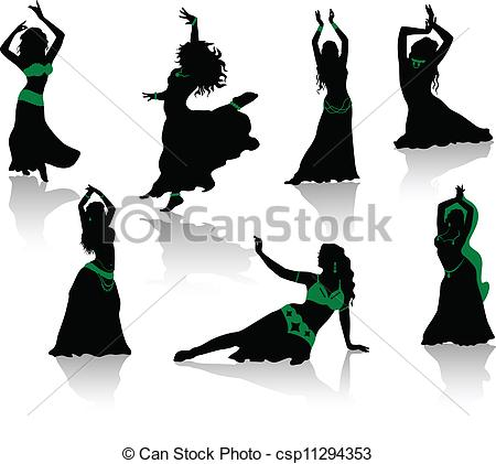 Danse clipart logo Silhouettes  of Clipart csp11294353