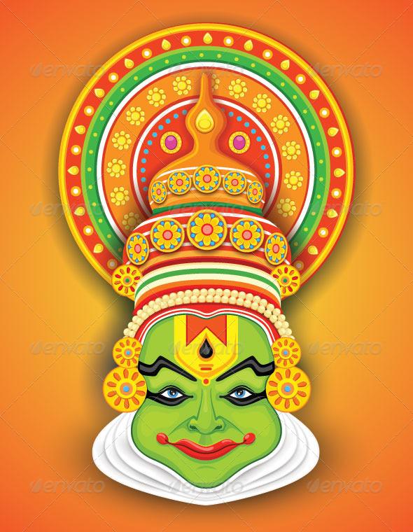 Danse clipart onam Dancer graphics Dancer Kathakali Kathakali
