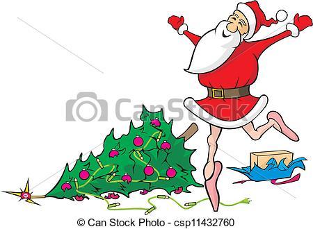 Santa clipart dancing #11