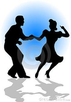 Danse clipart social dance Swing  Dancing 88Kb) Silhouette