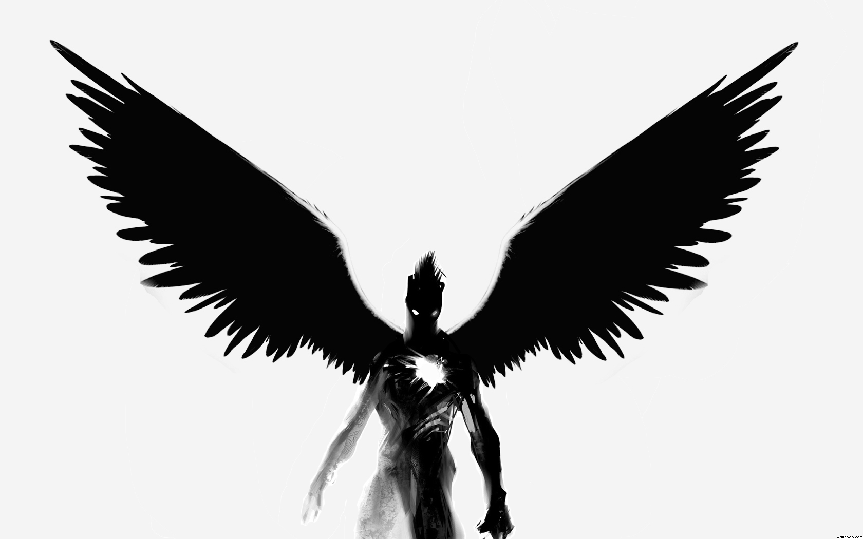 Dark Angel clipart Clipart Angel Black White Clip