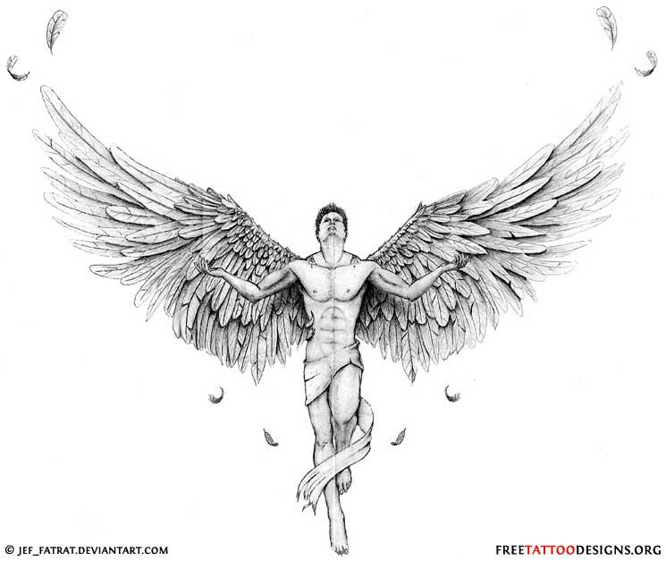Drawn angel guy #9