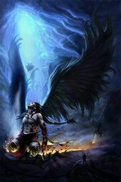 Dark Angel clipart angels god Fly angels male in fallen