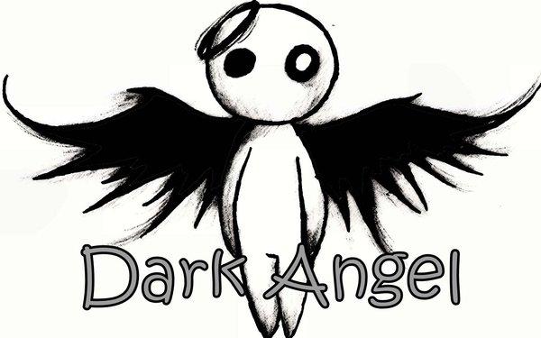 Drawn angel black angel #11