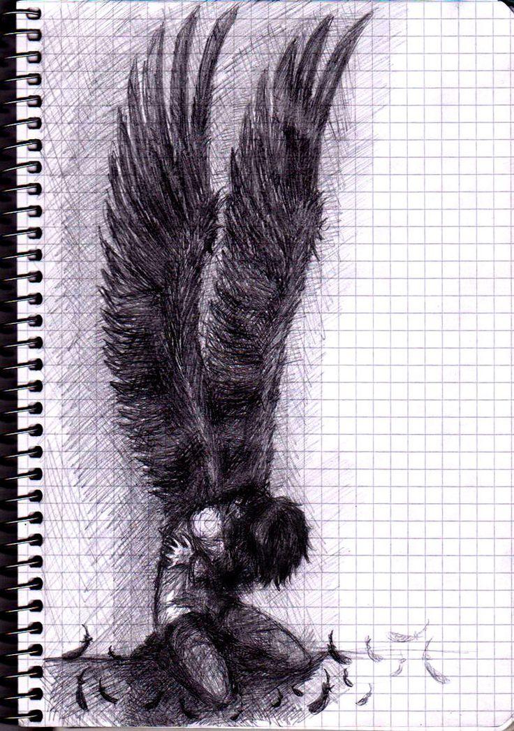 Drawn angel creepy #12