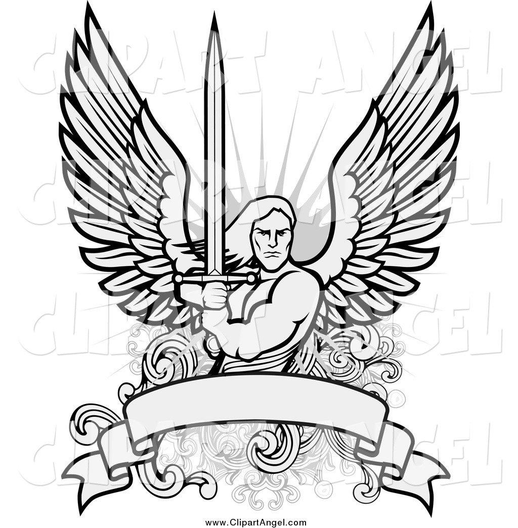 Dark Angel clipart guardian angel Angels Angels Coloring Male Male