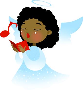 Angel clipart dark hair Angel art art Angel Singing