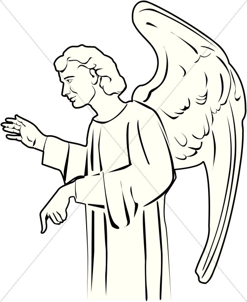 Angel clipart black and white Clipart Angel Angel Angel Clipart