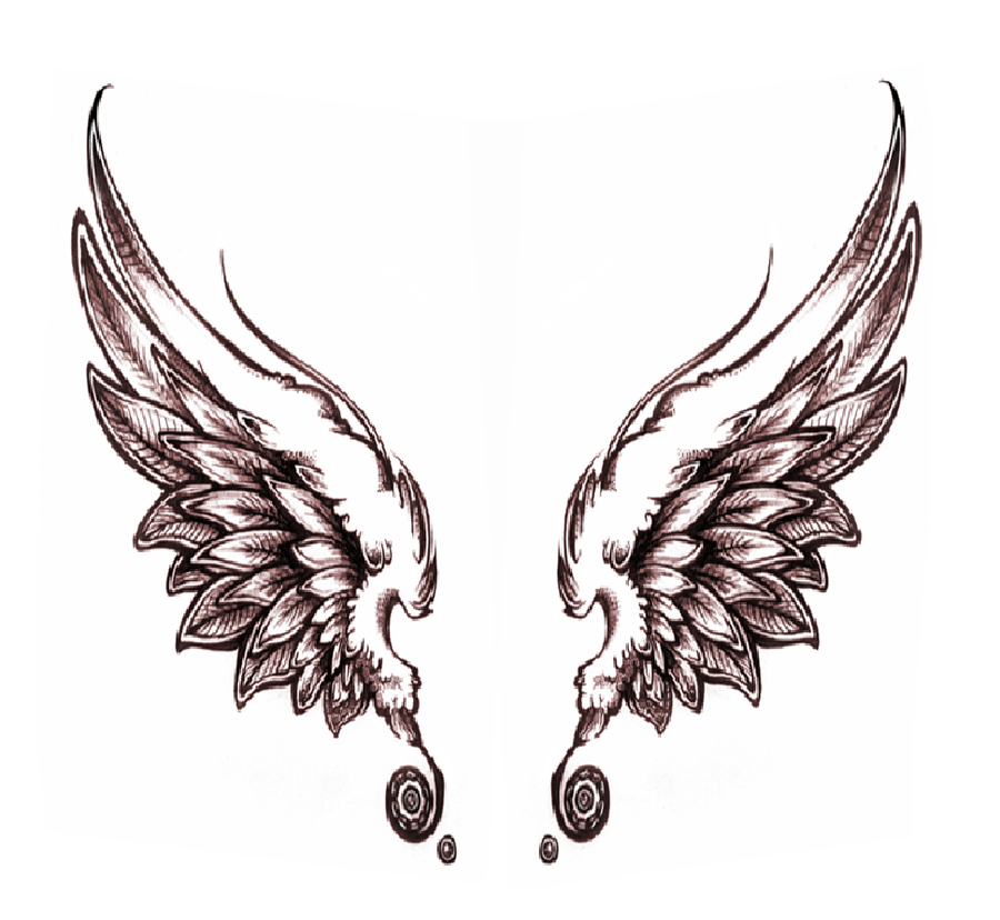 Wings clipart sketched Download Free Clip Angel Art