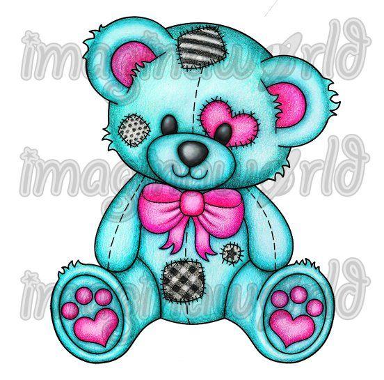 Dark Blue clipart teddy bear Tattoo on bear Teddy tattoo