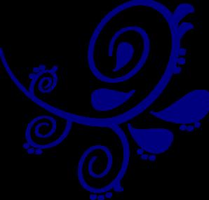 Dark Blue clipart Scroll Clipart Dark Blue