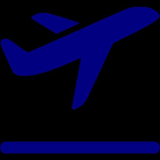 Airplane clipart dark blue #4