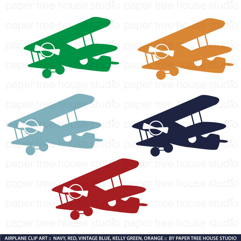 Airplane clipart navy blue Art Set Navy This file