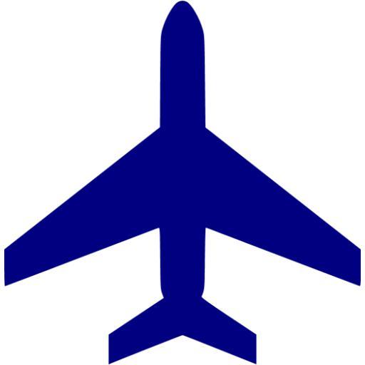 Airplane clipart dark blue #2