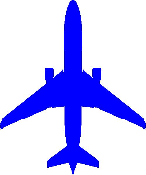 Airplane clipart dark blue #1