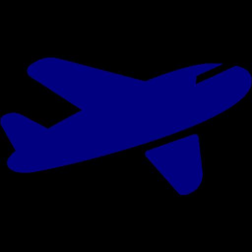 Airplane clipart dark blue #3