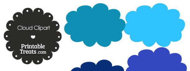 Clouds clipart dark blue In Blue Printable Blue Cloud