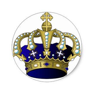 Dark Blue clipart crown Royal Blue Zazzle Sticker Crown