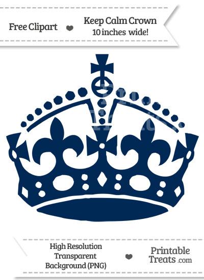 Dark Blue clipart crown Clipart Calm Treats — Navy
