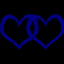 Hearts clipart navy Navy Navy blue 3 icon