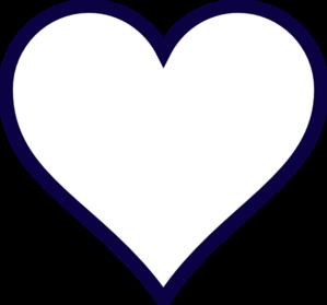 Hearts clipart navy Midnight Outline Heart Midnight Blue