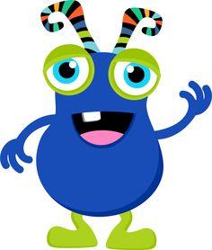 Monster clipart blue monster #2