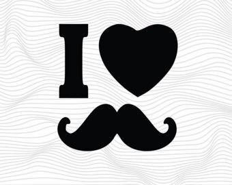 Dark Blue clipart mustache Files SVG Etsy Moustache Svg