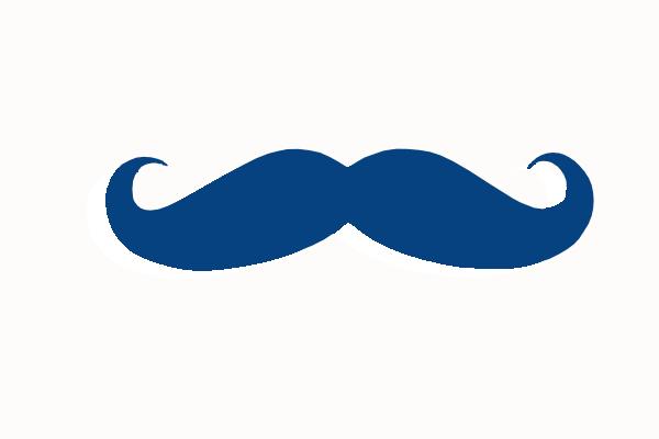 Dark Blue clipart mustache As: image  online Clker