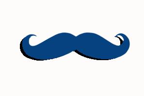 Dark Blue clipart mustache Mustache Art royalty com art