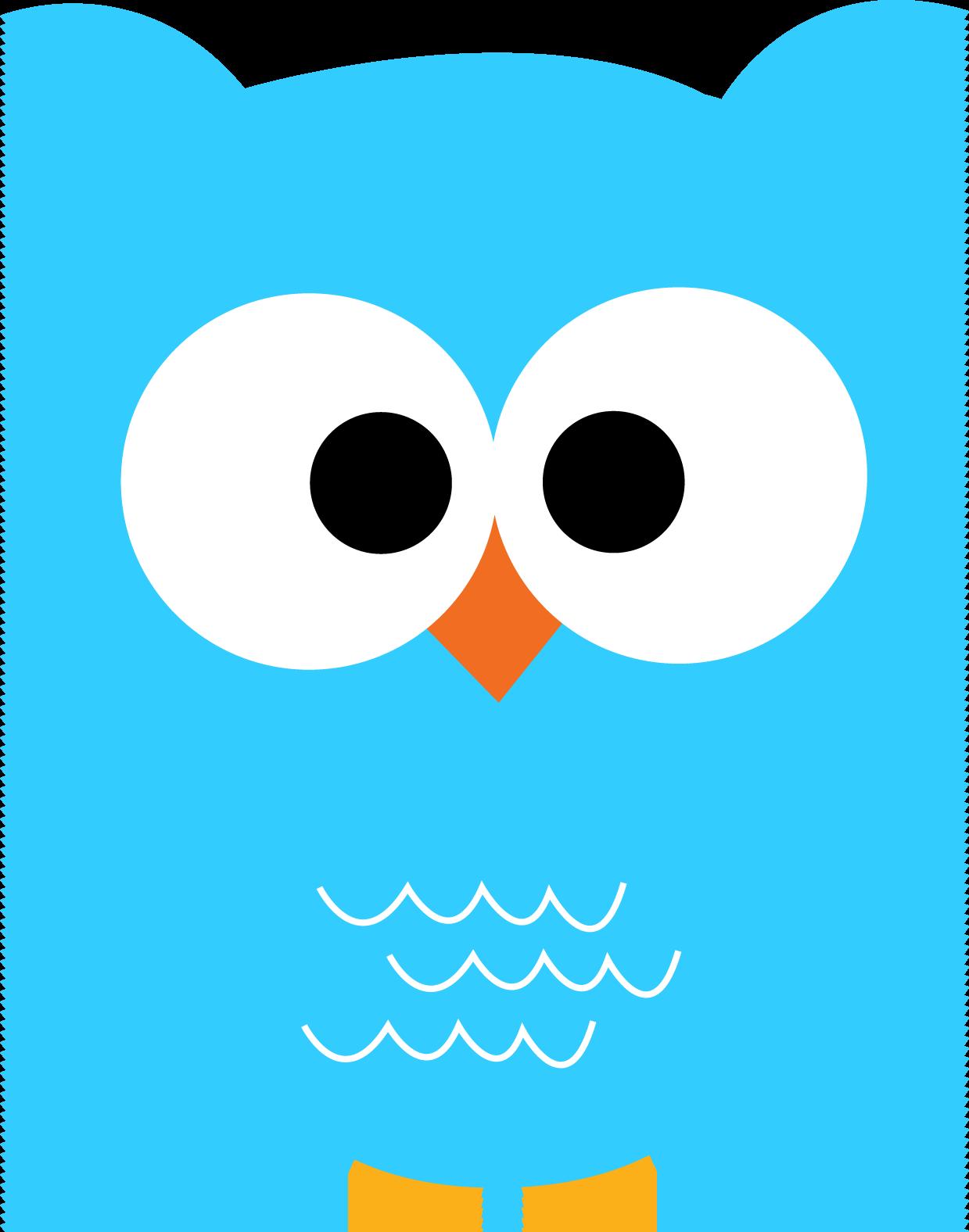 Light Blue clipart owl Cute Clip Free Corujinha Art