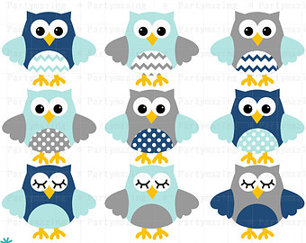 Light Blue clipart owl And Owl with Owl Navy
