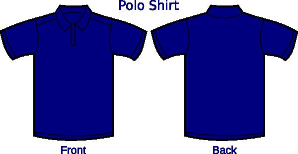 Dark Blue clipart polo shirt Vector art image at Download